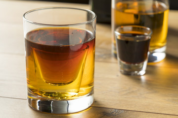 Boozy Bomb Shots with LIquor and Energy Drink