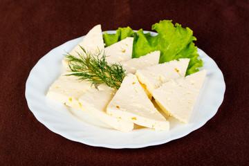 Caucasian cheese suluguni