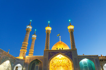 Islamic Republic of Iran. Qom. Shrine of Fatima Masumeh is considered by Shia Muslims one of the most significant Shi'i shrines in Iran.