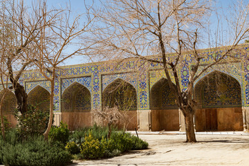 "Islamic Republic of Iran. Isfahan Province, Isfahan (Esfahan). Abassi Mosque, Great Mosque of Esfahan ""Universal Mosque"". Complex of buildings that is centered on the 11th-century domed sanctuary."