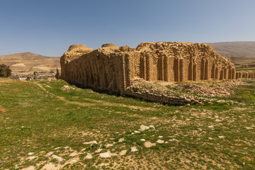 Islamic Republic of Iran.Fars Province. Murdestan.Atashkadeh. Near ancient city of Gor. The Palace of Ardashir Papakan (Atash-kadeh). Ruins of castle built in AD 224.