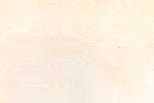 wooden background from natural birch plywood