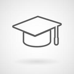 Graduation cap icon, vector, illustration, eps file