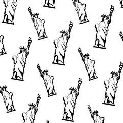 grunge statue liberty sculpture design background