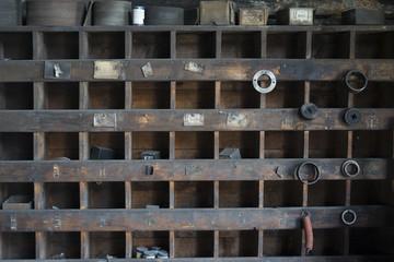 old blacksmith shelves