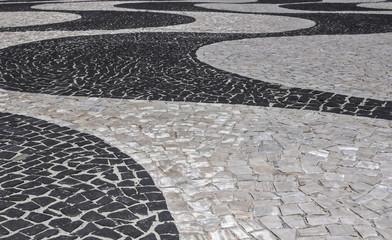 Landmark mosaic in Rio de Janeiro Brazil