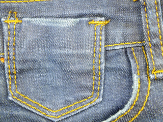 texture background of jeans pocket detail