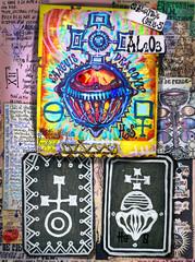 Alchimia e astrologia. Manoscritti con disegni e simboli alchemici, etnici, astrologici e esoterici