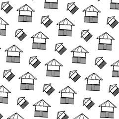 line straw hut nature architecture background