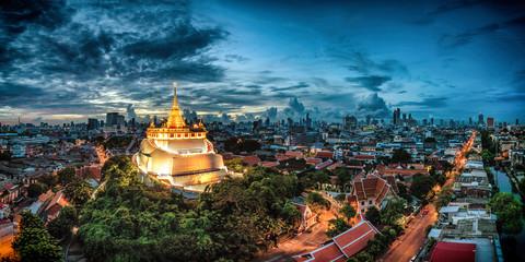 Wat Saket, The Golden Mount Temple, Bangkok, Thailand.