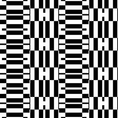 Geometric seamless pattern. Black and white illustration. Modern minimal design.