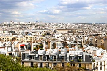 Aerial View of Paris, France, seen from Basilique du Sacre-Coeur