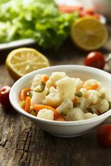 Preserved vegetables salad