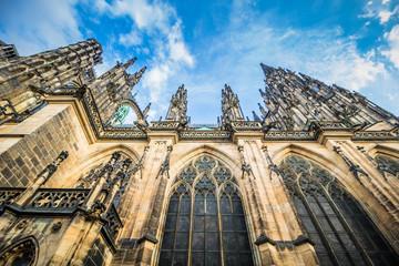 Der St. Veitsdom auf der Prager Burg in Sommer, Tschechische Republik