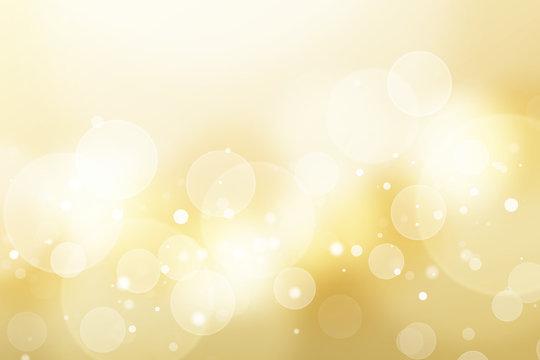 金色のボケ、抽象的背景