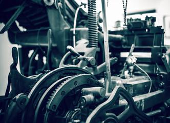 Old press printing machine