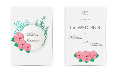 Wedding invitation. Watercolor  floral composition. Vector