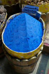 A Bucket of Indigo Pigment