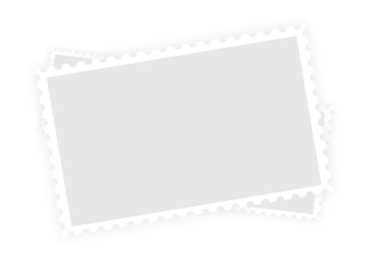 Three old blank postage paper stamp frames