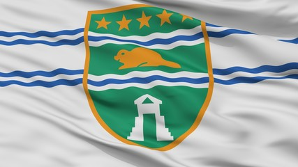 Surrey City Flag, Country Canada, British Columbia Province, Closeup View