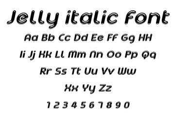 jelly font italic