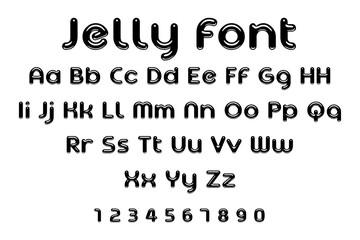 jelly font alphabet