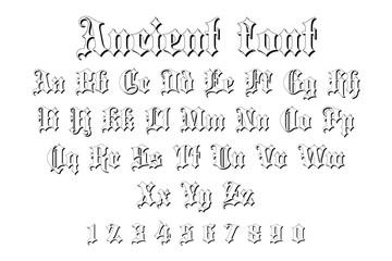 ancient font alphabet