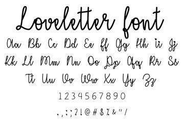 loveletter font alphabet