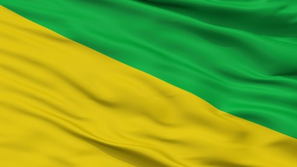 Buenaventura City Flag, Country Colombia, Closeup View