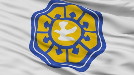 Nicosia City Flag, Country Cyprus, Closeup View