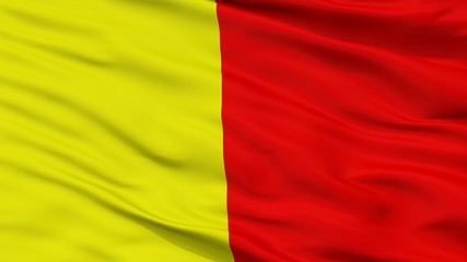 Orleans City Flag, Country France, Closeup View