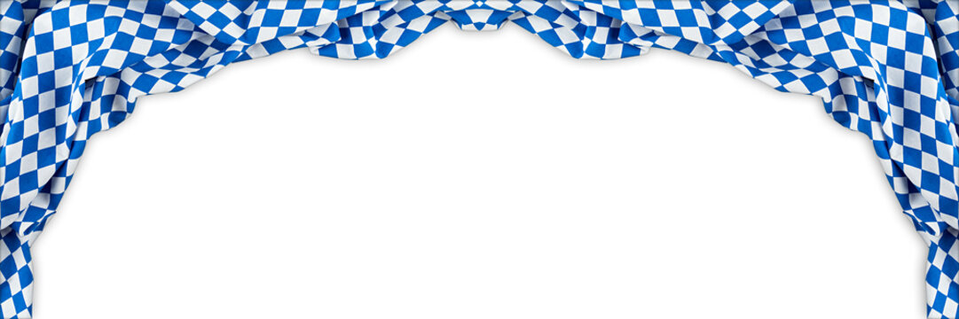 bavaria flag oktoberfest empty isolated wide panorama banner background with copy space bavarian german germany culture festival concept