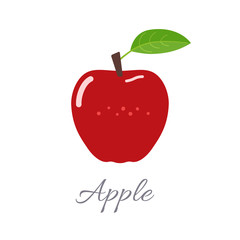 Apple icon with title