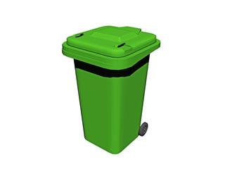Grüne Mülltonne