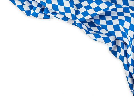 bavaria flag oktoberfest empty isolated  background with copy space bavarian german germany culture festival concept