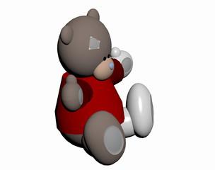 Teddybär im Kinderzimmer