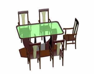 Sitzecke mit Möbeln