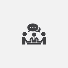 Meeting base icon. Simple sign illustration. Meeting symbol design from Project management series. Can be used for web, print and mobile