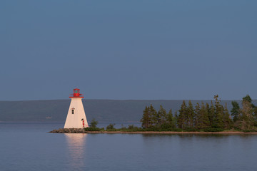 Wall Mural - Kidston Island Lighthouse in Baddeck, Nova Scotia