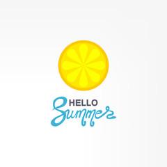 Fresh lemon fruits, vector illustrations