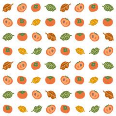 柿のパターン素材
