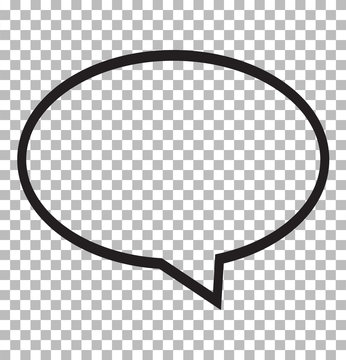 speech bubble icon isolated on transparent background. speech bubble logo concept. flat style. speech bubble for your web site design, logo, app, UI.