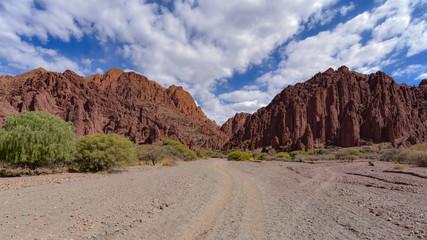 Stunning desert landscapes in the Canyon del Inca & Quebrada Palmira, near Tupiza, Bolivia