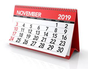 November 2019 Calendar.