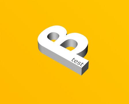 Beta testing software 3D logo on orange background