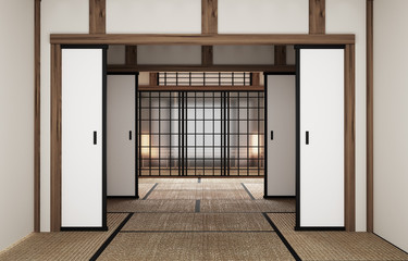 Japanese-Style Room original interior design. 3D rendering