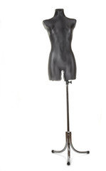 Black female tailors dummy mannequin with stand