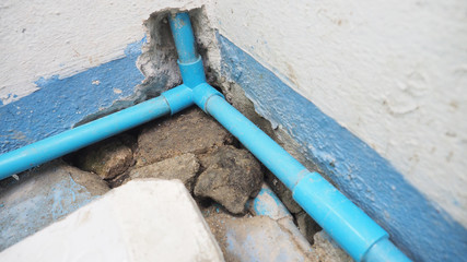 How to DIY to install the 3 way joint PVC water pipe