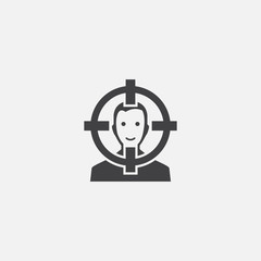 Image Target base icon. Simple sign illustration. Image Target symbol design from Augmented reality series. Can be used for web, print and mobile