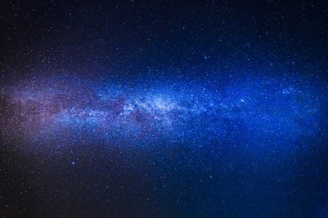 Wonderful blue milky way with million stars at night
